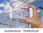 application of augmented... | Shutterstock . vector #556824226