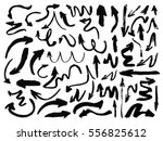hand drawn arrows set isolated... | Shutterstock .eps vector #556825612