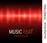 music beat. red lights... | Shutterstock .eps vector #556827406