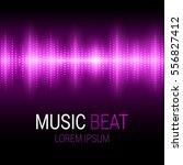 music beat. pink lights... | Shutterstock .eps vector #556827412