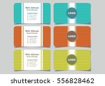 business name card with... | Shutterstock .eps vector #556828462