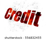finance concept  pixelated red... | Shutterstock . vector #556832455