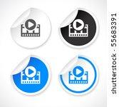 vector stickers | Shutterstock .eps vector #55683391