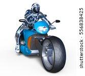 3d cg rendering of a cyborg...   Shutterstock . vector #556838425