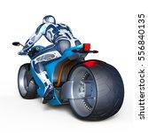 3d cg rendering of a cyborg...   Shutterstock . vector #556840135