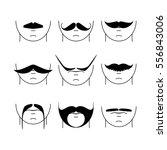 big set of vector hipster...   Shutterstock .eps vector #556843006