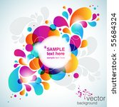 colorful abstract background.... | Shutterstock .eps vector #55684324