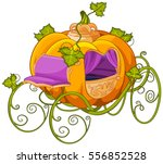 pumpkin turn into a carriage or ... | Shutterstock .eps vector #556852528