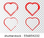 set of hearts . grunge stamps... | Shutterstock .eps vector #556854232