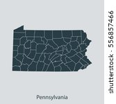 map of pennsylvania | Shutterstock .eps vector #556857466
