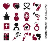 wedding  marry icon set | Shutterstock .eps vector #556860892