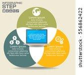 infographics design template... | Shutterstock .eps vector #556862422