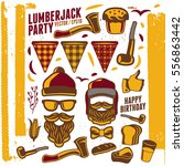 printable set of vintage... | Shutterstock .eps vector #556863442