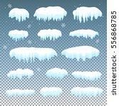 Set Of Snow Cap  Ice Caps On...