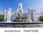 cibeles fountain in madrid ... | Shutterstock . vector #556870582