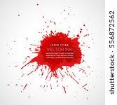red splatter ink drop effect   Shutterstock .eps vector #556872562
