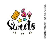 vector poster with phrase ... | Shutterstock .eps vector #556872856