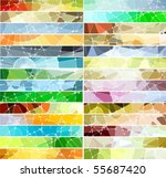 abstract geometric mosaic... | Shutterstock .eps vector #55687420