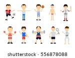 isolated sport set on white... | Shutterstock . vector #556878088
