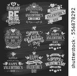 happy valentines day typography ... | Shutterstock .eps vector #556878292