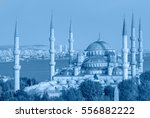 the blue mosque   sultanahmet... | Shutterstock . vector #556882222