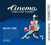 cinema poster or movie banner... | Shutterstock .eps vector #556882792
