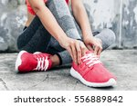 fitness sport woman in fashion... | Shutterstock . vector #556889842