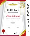 white official certificate with ... | Shutterstock .eps vector #556893835