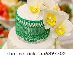 wedding cake  wedding style ... | Shutterstock . vector #556897702