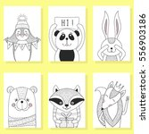 funny animals cartoon  children ... | Shutterstock .eps vector #556903186