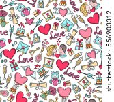 vector pattern with hand drawn... | Shutterstock .eps vector #556903312