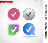colored icon or button of check ... | Shutterstock .eps vector #556909456