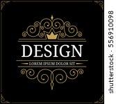 vintage logo. vector... | Shutterstock .eps vector #556910098