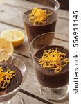 chocolate mousse with orange... | Shutterstock . vector #556911145