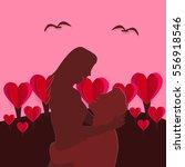 valentines day   illustration... | Shutterstock .eps vector #556918546