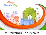 26th january  happy republic... | Shutterstock .eps vector #556926052