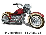 classic vintage motorcycle. | Shutterstock .eps vector #556926715