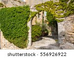 bonnieux in provence france ... | Shutterstock . vector #556926922