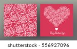 set of seamless patterns and... | Shutterstock .eps vector #556927096