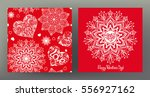 set of seamless patterns and... | Shutterstock .eps vector #556927162