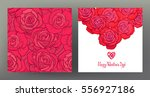 set of seamless patterns and... | Shutterstock .eps vector #556927186