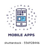 vector illustration of a phone... | Shutterstock .eps vector #556928446