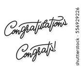 congratulations. hand lettering ... | Shutterstock .eps vector #556929226