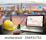 smart refinery factory and... | Shutterstock . vector #556931752