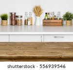 Wooden Texture Table With Boke...