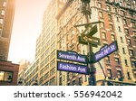 street sign of seventh and... | Shutterstock . vector #556942042