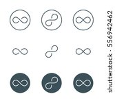 thin line infinity symbol or... | Shutterstock . vector #556942462