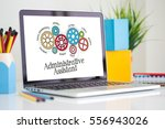 Small photo of Gears and Administrative Assistant Mechanism on Laptop Screen