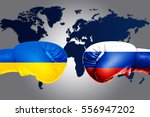 governments conflict concept.... | Shutterstock . vector #556947202