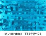 3d rendering of city s top view.... | Shutterstock . vector #556949476